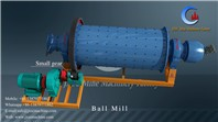 Stone grinding machine ball mill with steel balls