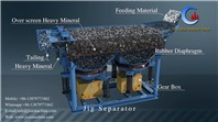 JT4-2 good concentration effect gravity separator jig separation machine for gold/diamond washing plant