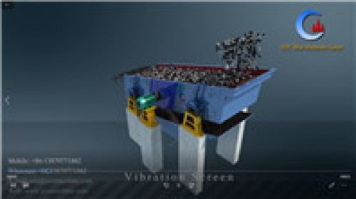 Heavy duty mining vibrating screen, multi deck vibration screen