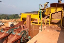 100TPH Alluvial Gold (with Sticky Clay) Porcessing Plant in Pakistan