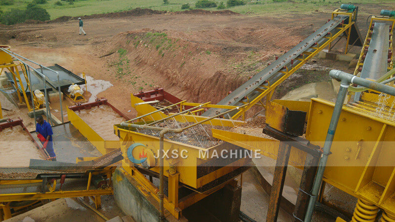 Coltan mining equipment