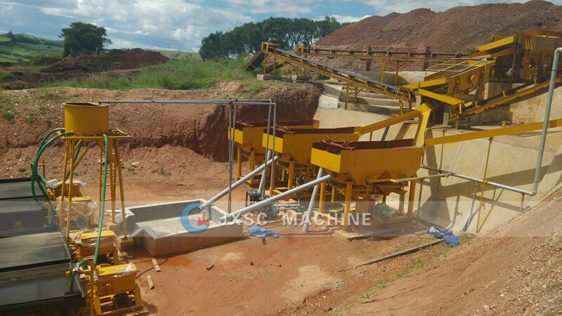Coltan ore mining machine