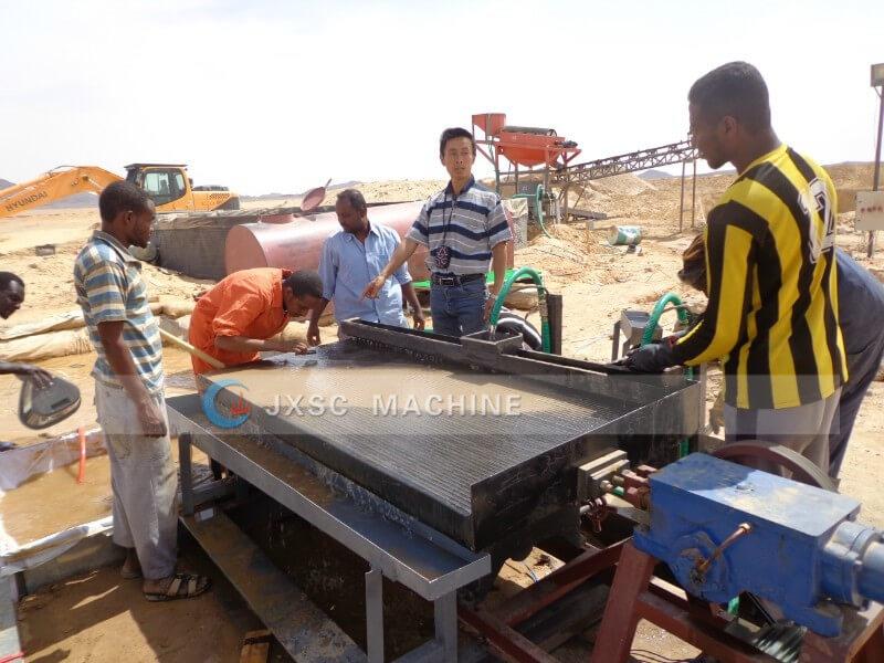 Sudan 20TPH Alluvial gold wash plant