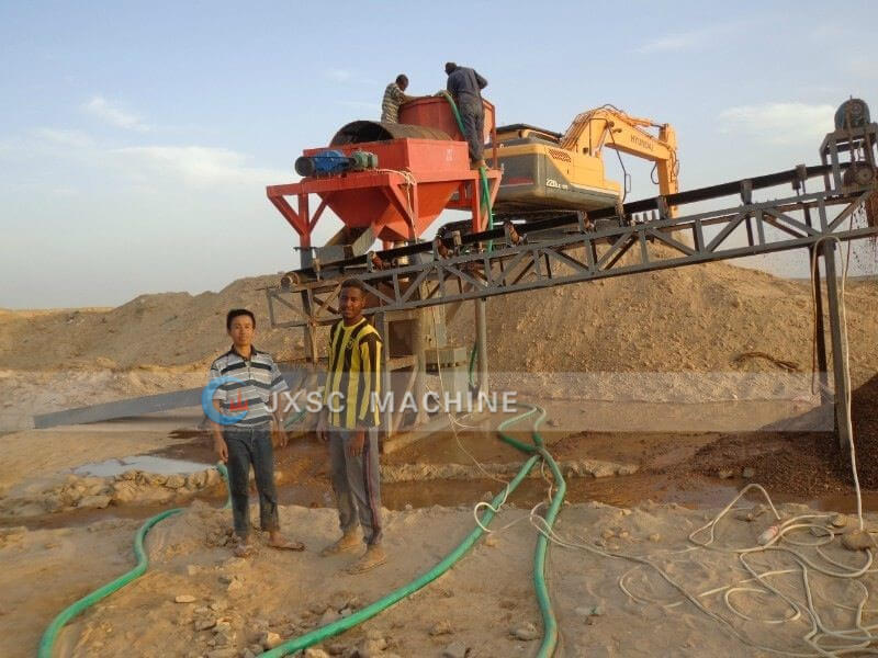 alluvial gold process plant