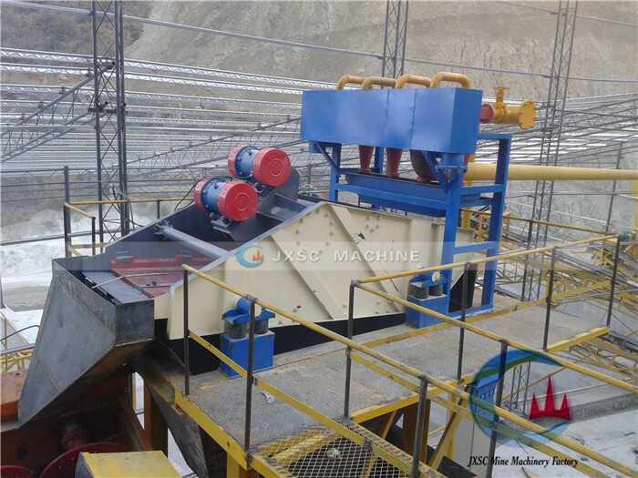 tailings dry stacking vibrating screen