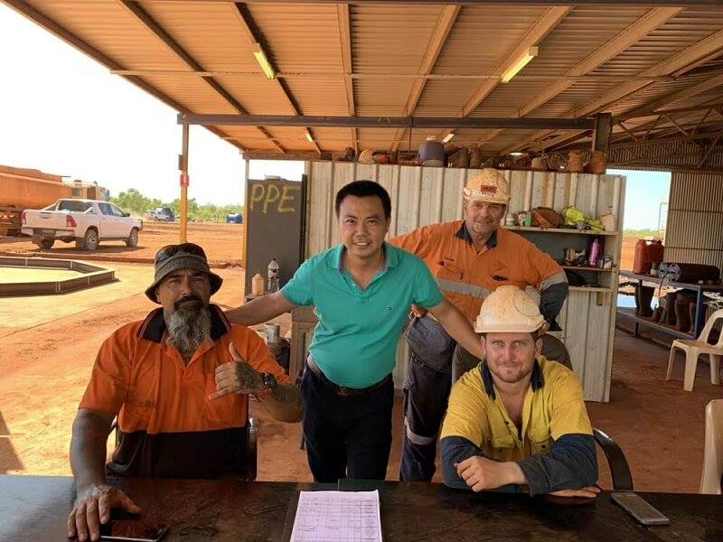 JXSC engineer Li visits Australia gold mine