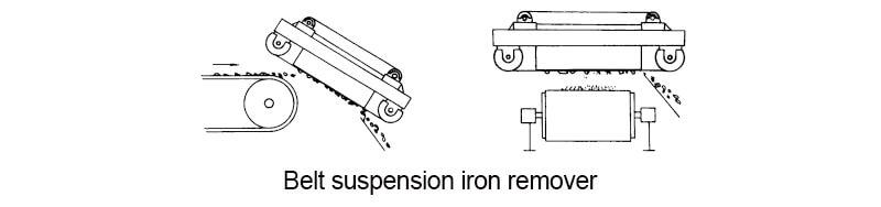 belt suspension iron remover