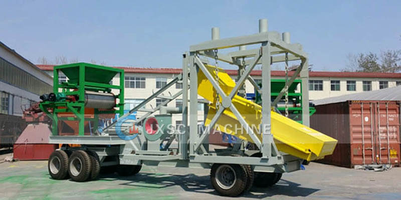 portable gold dry separation
