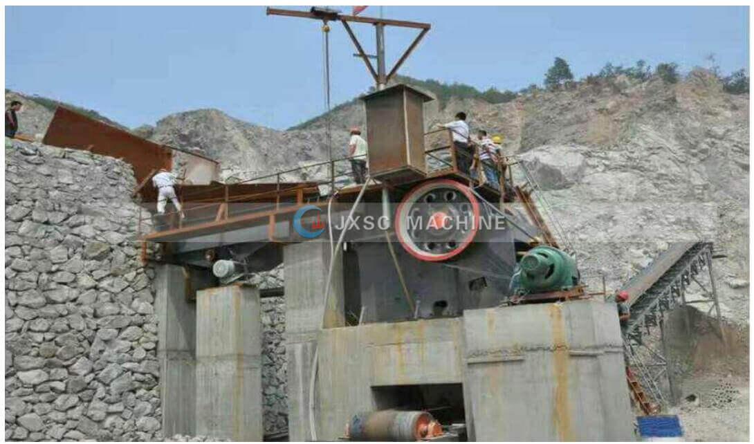 granite stone crushing site