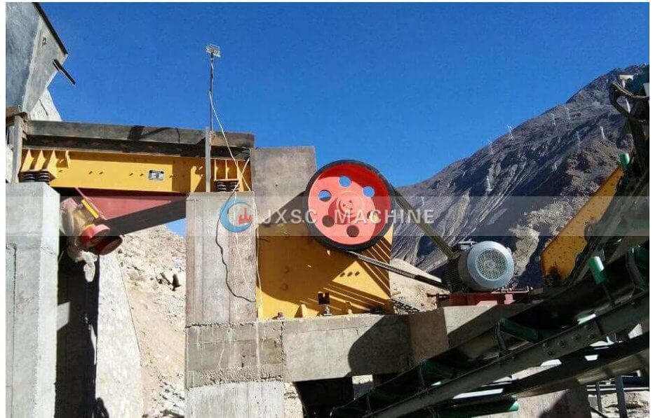 jaw crusher for granite process
